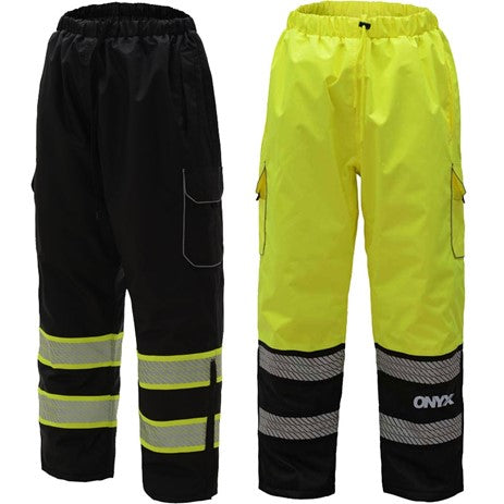 GSS SAFETY 8711/8712 ONYX CLASS E RIP STOP POLY FILLED INSULATED WINTER PANTS W/SEGMENT TAPE