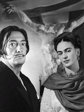 Load image into Gallery viewer, Sticker Frida Kahlo & Salvador Dalí | 02 | Patch Applique