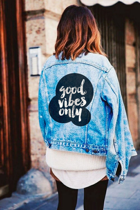 Sticker Good Vibes Only | 01 | Patch Applique