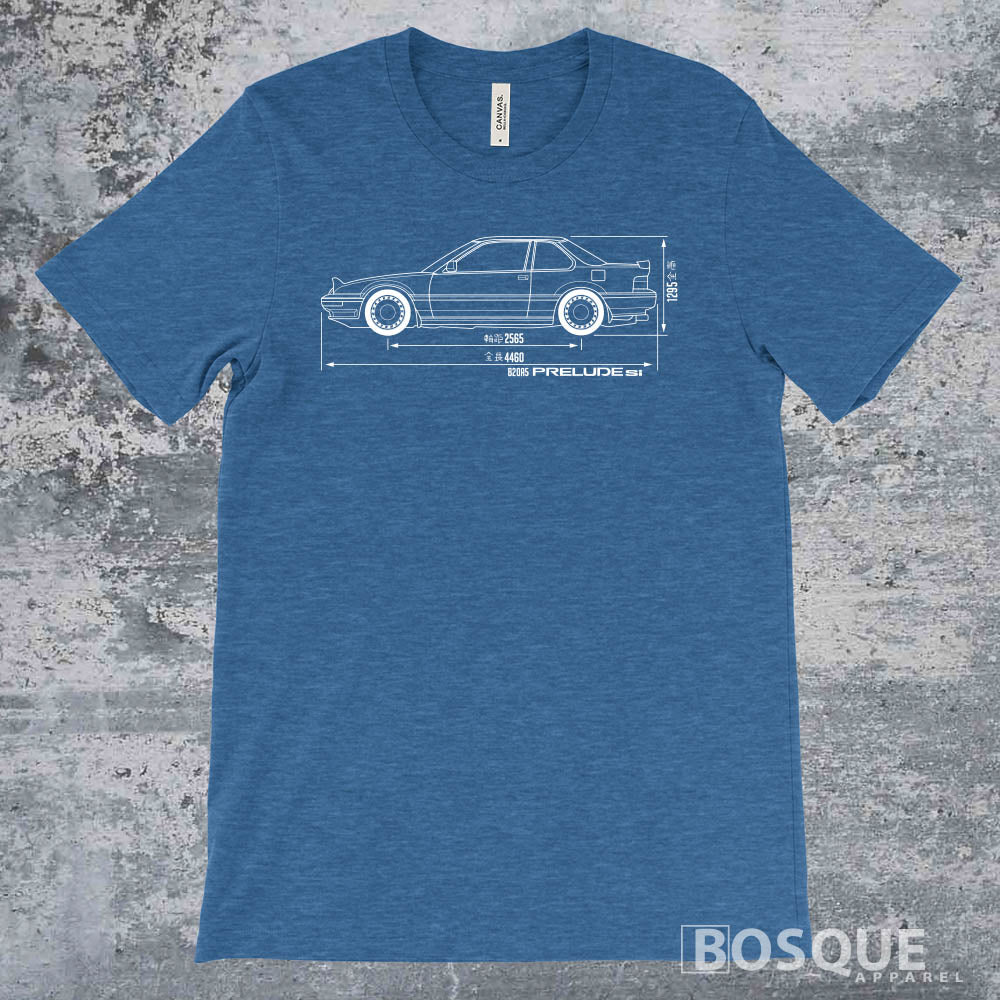 Blueprint 1988 - 1989 B20 Prelude Si Shirt - Ink Printed T-Shirt