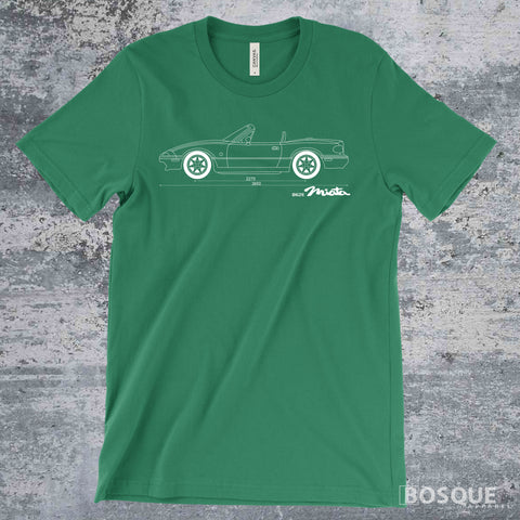 Blueprint 1989 - 1998 1st Gen Miata Shirt - Ink Printed T-Shirt