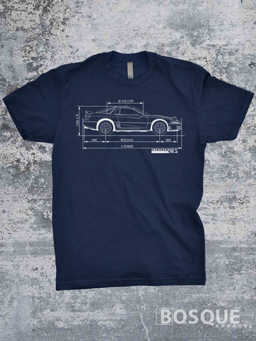 Blueprint 1st gen 1991 - 1993 3000GT VR-4  Twin Turbo Shirt VR4 - Ink Printed T-Shirt