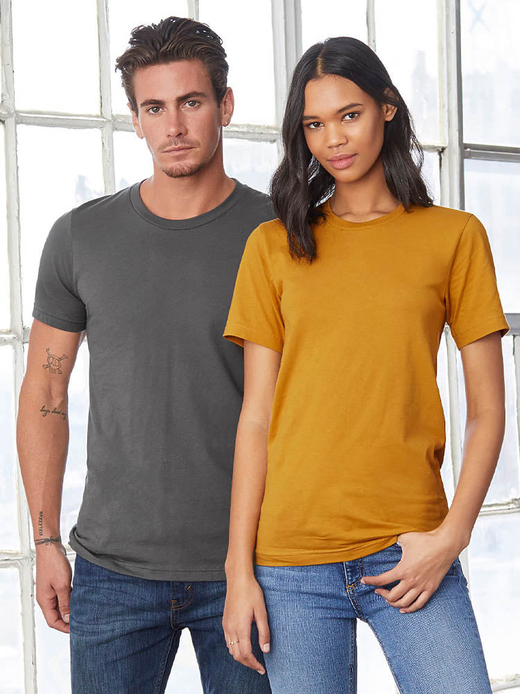 Bella + Canvas 3001 6004 Unisex and Petite Crew Neck Solid - Heather - Triblend Short Sleeve Tee T-Shirt