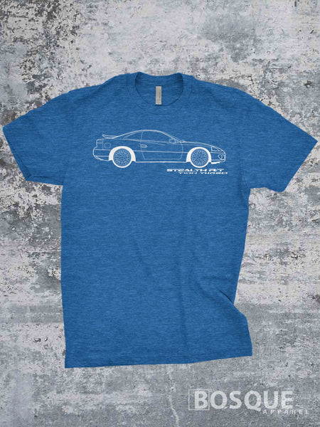 Blueprint 2nd gen 1994 - 1996 96 Stealth R/T Twin Turbo Super Banana Shirt - Ink Printed T-Shirt