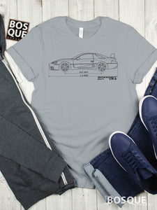 Blueprint 1999 3000GT VR-4  Twin Turbo Shirt VR4 Combat Wing  - Ink Printed T-Shirt