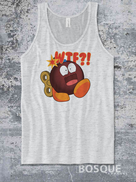 WTF Bomb JGroove Twitch Emote 80s Kids with Kids Ink Printed Concert Tank Top