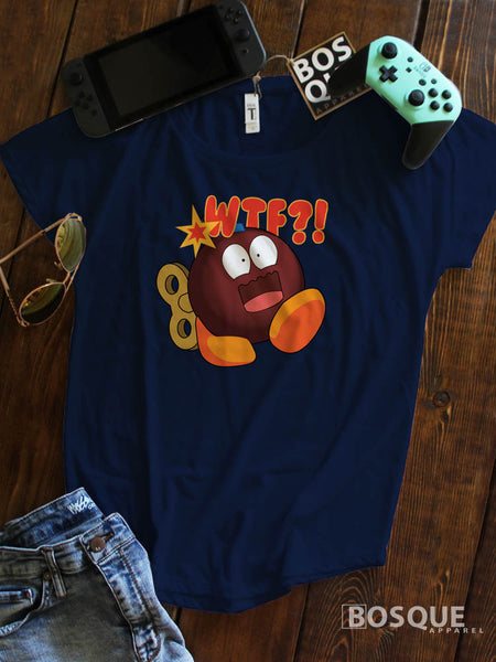 WTF Bomb JGroove Twitch Emote 80s Kids with Kids Ink Printed Dolman Tee Shirt