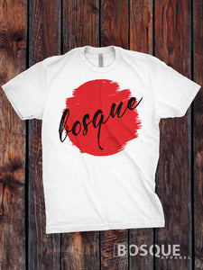 Bosque Rising Sun Logo Branded Graphic Tee - Ink Printed T-Shirt