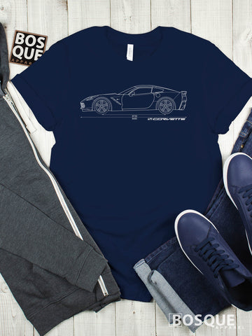 Blueprint C7 LT1 Corvette Stingray Shirt - Ink Printed T-Shirt