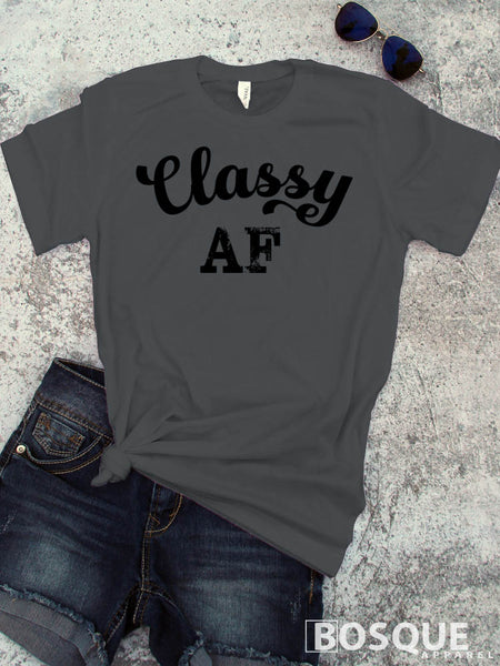 I'm Classy AF - Classy Tee Shirt, Hipster fashion, Funny Tees - Ink Printed T-Shirt