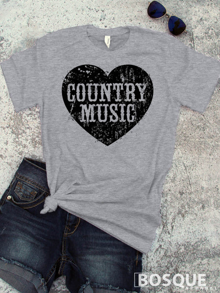 Country Music Love V2 Southern Style Tee - Ink Printed T-Shirt