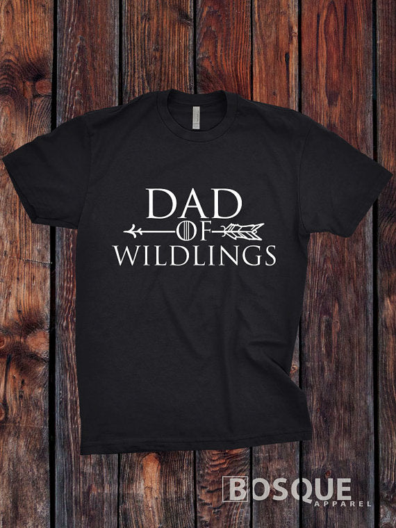 Dad of Wildlings - BoHo Arrow Halloween inspired design - Ink Printed T-Shirt