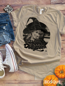 Happy Dollyween -  Country Music Inspired Halloween Southern Style Ink Printed Tee Shirt