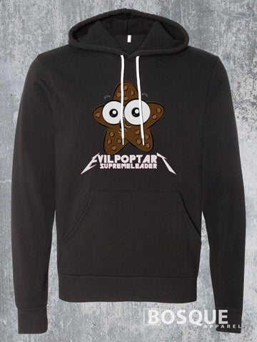 Chocolate Starfish Evil Poptart Supreme Leader Metalhead Logo Twitch Streamer evilpoptartsupremeleader Fleece Hoodie - Ink Printed Pullover