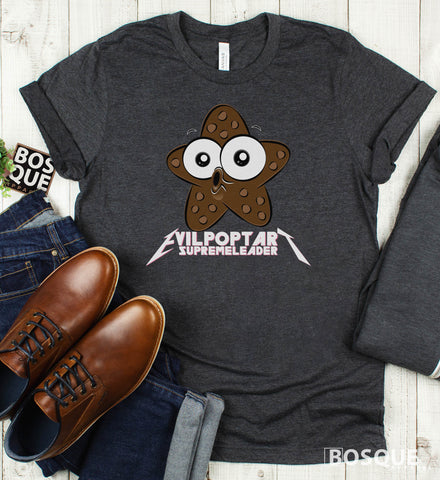 Chocolate Starfish Evil Poptart Supreme Leader Metalhead Logo Twitch Streamer evilpoptartsupremeleader Ink Printed Tee Shirt