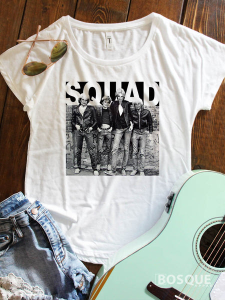 Golden Squad Leather Jacket Humor Music Funny Dolman Tee Shirt