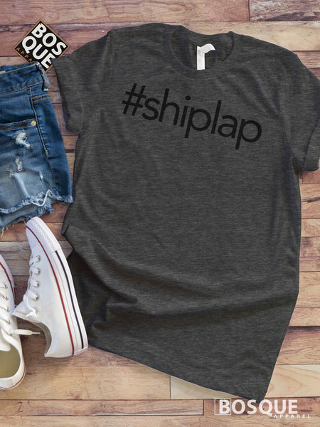 Personalized # Hashtag shirt Custom Print Shiplap Tee - Ink Printed T-Shirt