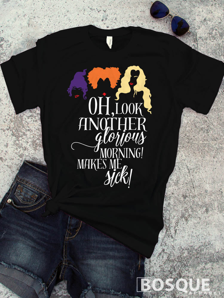 Hocus Pocus - In Color - Glorious Morning Halloween inspired shirt - Ink Printed T-Shirt