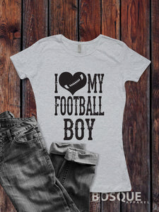 I Love my Football Boy T-Shirt/Unisex Shirt sports football Style - Ink Printed T-Shirt