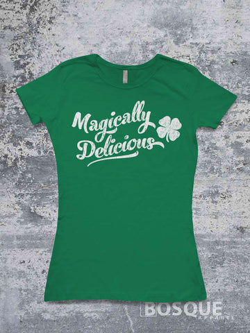 Magically Delicious St. Patrick's Day Funny shirt - Ink Printed T-Shirt