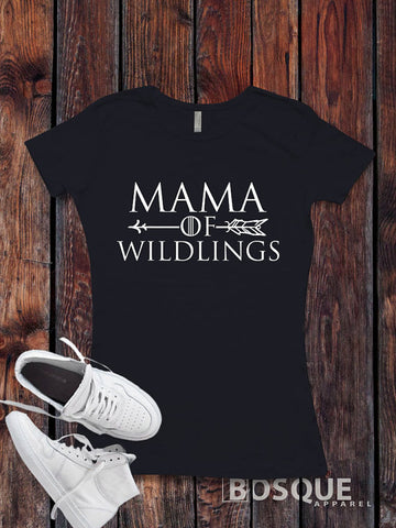 Mama of Wildlings - BoHo Arrow Halloween inspired design - Ink Printed T-Shirt
