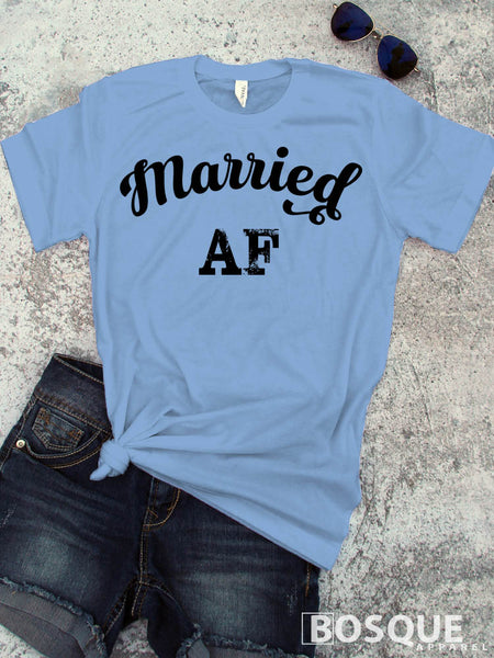 I'm Married AF - Wedding, Bride, Bride to be Tee Shirt, Hipster fashion, Funny Tees - Ink Printed T-Shirt
