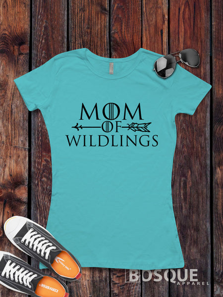 Mom of Wildlings - Funny Book and TV inspired tee - Ink Printed T-Shirt