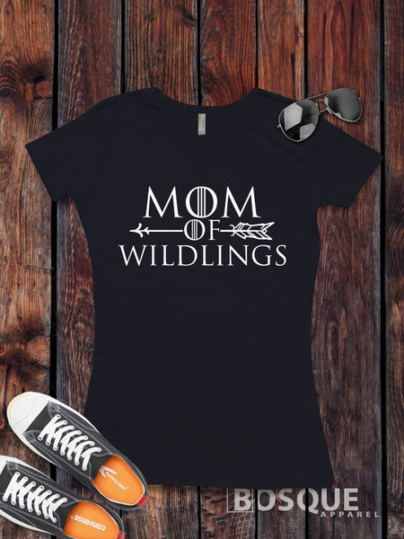 Mom of Wildlings - BoHo Arrow Halloween inspired design - Ink Printed T-Shirt