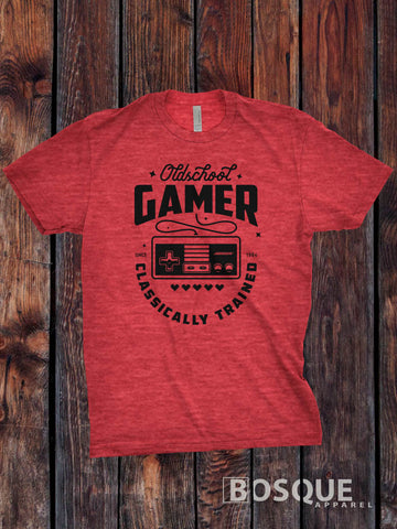 Oldschool Gamer Classic Retro Video Games Twitch JGroove TiffanyTv 80s Kids with Kids T-Shirt - Ink Printed shirt