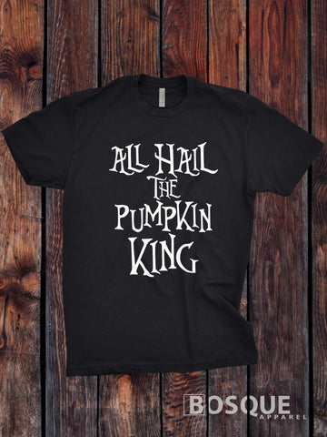 All Hail the Pumpkin King - Halloween inspired design - Ink Printed T-Shirt
