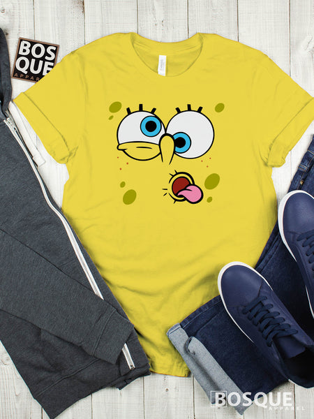 Spongebob Derp Face Premium Tee | Long Tee Shirt | Hoodie | Sweatshirt | Tank-Top …