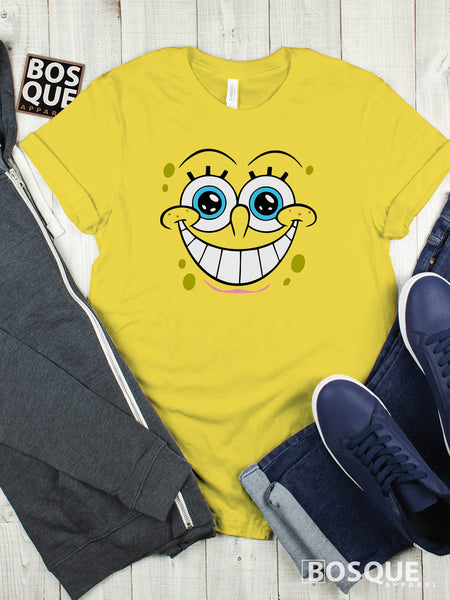 Spongebob Happy Face Premium Tee | Long Tee Shirt | Hoodie | Sweatshirt | Tank-Top …
