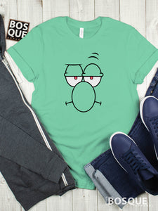 Spongebob Squidward Face Premium Tee | Long Tee Shirt | Hoodie | Sweatshirt | Tank-Top …