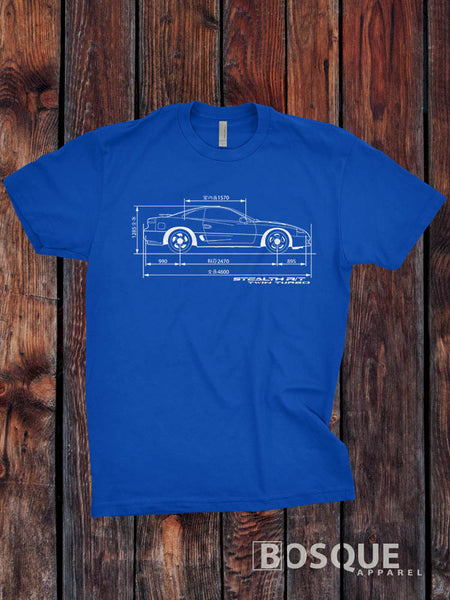 Blueprint 1st gen 1991 - 1993 Stealth R/T Twin Turbo Shirt - Ink Printed T-Shirt