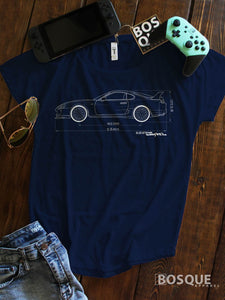 Blueprint MKIV 2JZ Supra Turbo Ink Printed Dolman Tee Shirt