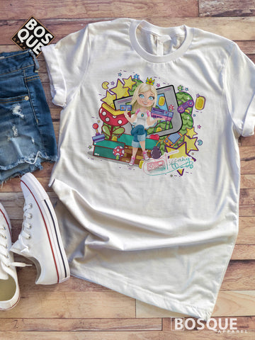 Throne of Games TiffanyTv is the Queen Classic Retro Video Games Twitch JGroove Tiffany Tv 80s Kids with Kids T-Shirt - Ink Printed shirt