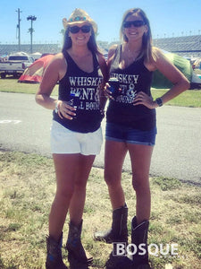 Whiskey Bent and Hell Bound Distressed Country Southern Style tank top - Ink Printed Tank Top