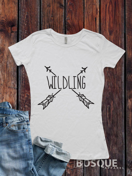 Wildling BoHo design - Funny Book and TV inspired tee - Ink Printed T-Shirt