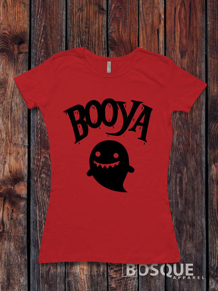 Booya Halloween T-Shirt Halloween Ghost shirt - Ink Printed