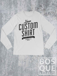 Custom Print - Long Sleeved Tee - Ink Printed Long Sleeved T-Shirt