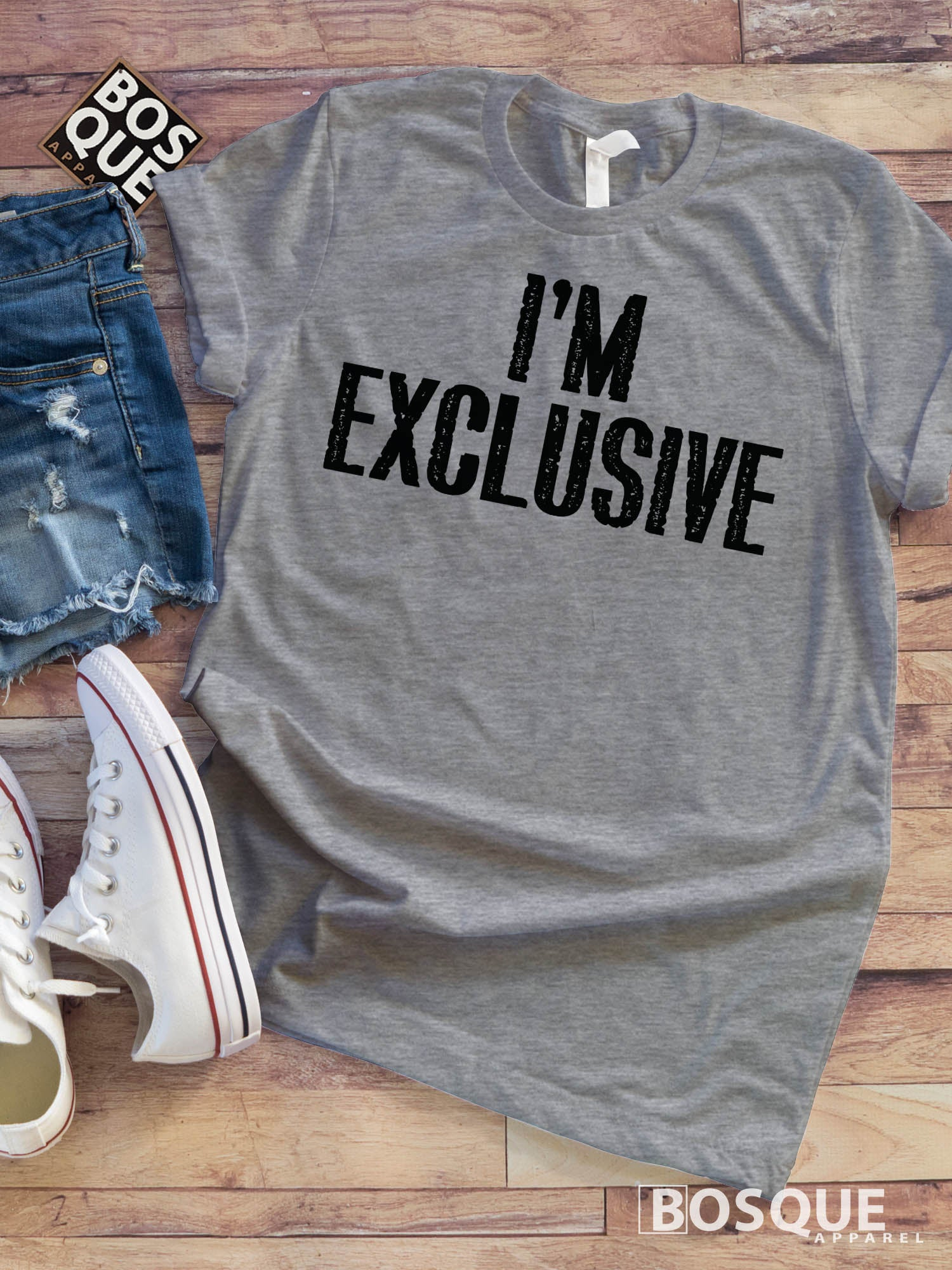 I'm Exclusive - Funny Adult Shirts - Grown Ups - Adultish - Funny Tees for Adults and Parents - Ink Printed T-Shirt
