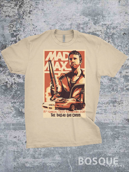 TX3S17 Mad Max inspired 15th Annual Gathering design 3000GT Stealth Shirt - Ink Printed