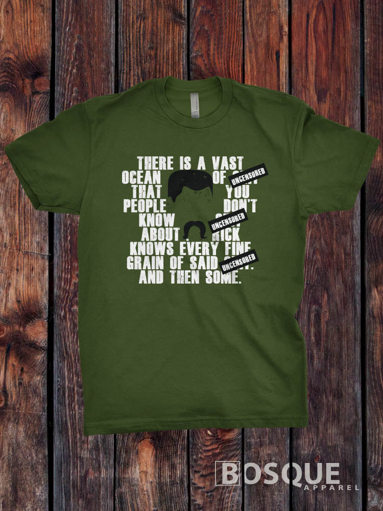Abraham Ford quotes Uncensored Vast Ocean The Walking Dead Inspired TV Show T-Shirt / Adults T-shirt Top Tee Shirt - Ink Printed