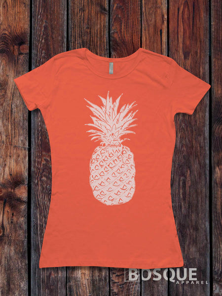 Pineapple T-Shirt / Women's T-shirt Fitted or Unisex Shirt design - Ink Printed