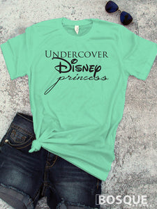 Undercover Princess t-shirt / inspirational movie inspired tee - Ink Printed
