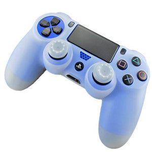 Protective Skin Cover Case Plus Thumbstick Grip Caps for DualShock 4