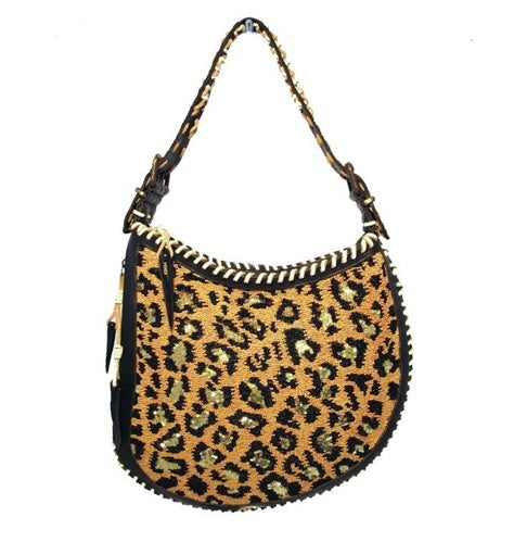 Fendi Beaded Safari Shoulder Bag