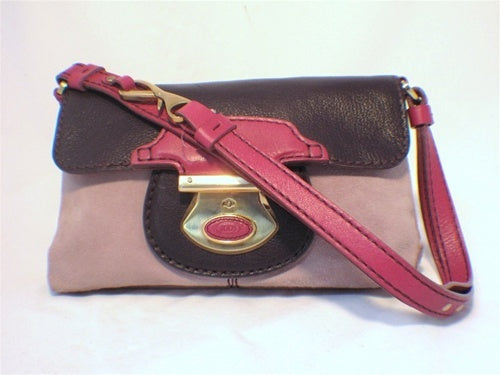 Tod's Rose Pink and Purple Leather Handbag