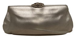 Chanel Silver Swarovski Crystal Camellia Evening Bag Clutch