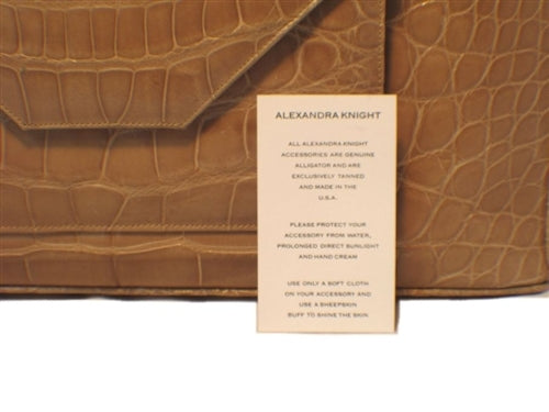 Alexandra Knight Tan Alligator Handbag